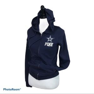VS Pink Dallas Cowboys zip hooded pocketed jacket